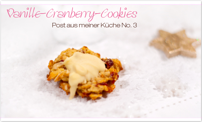 Vanille-Cranberry-Cookies