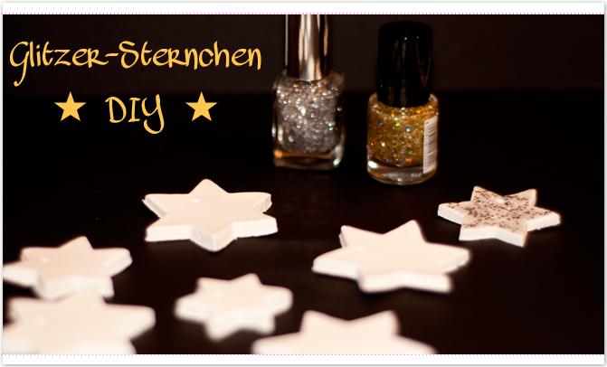 Glitzer-Sterne DIY