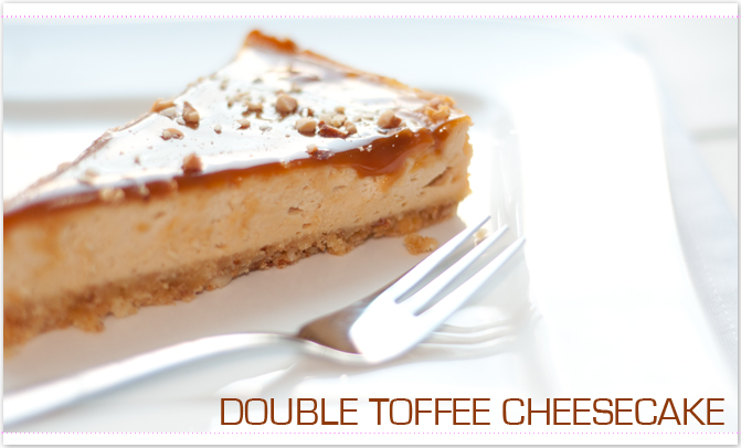 Double Toffee Cheesecake