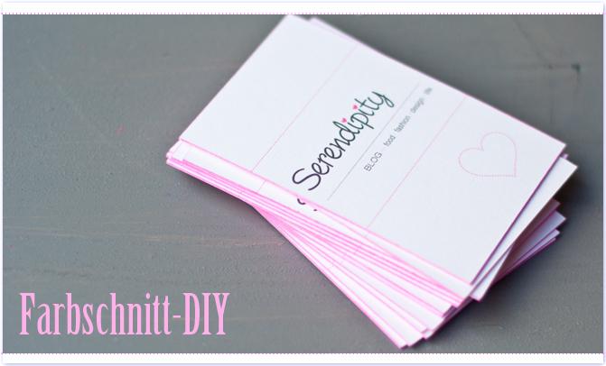Farbschnitt Diy Für Visitenkarten Serendipity