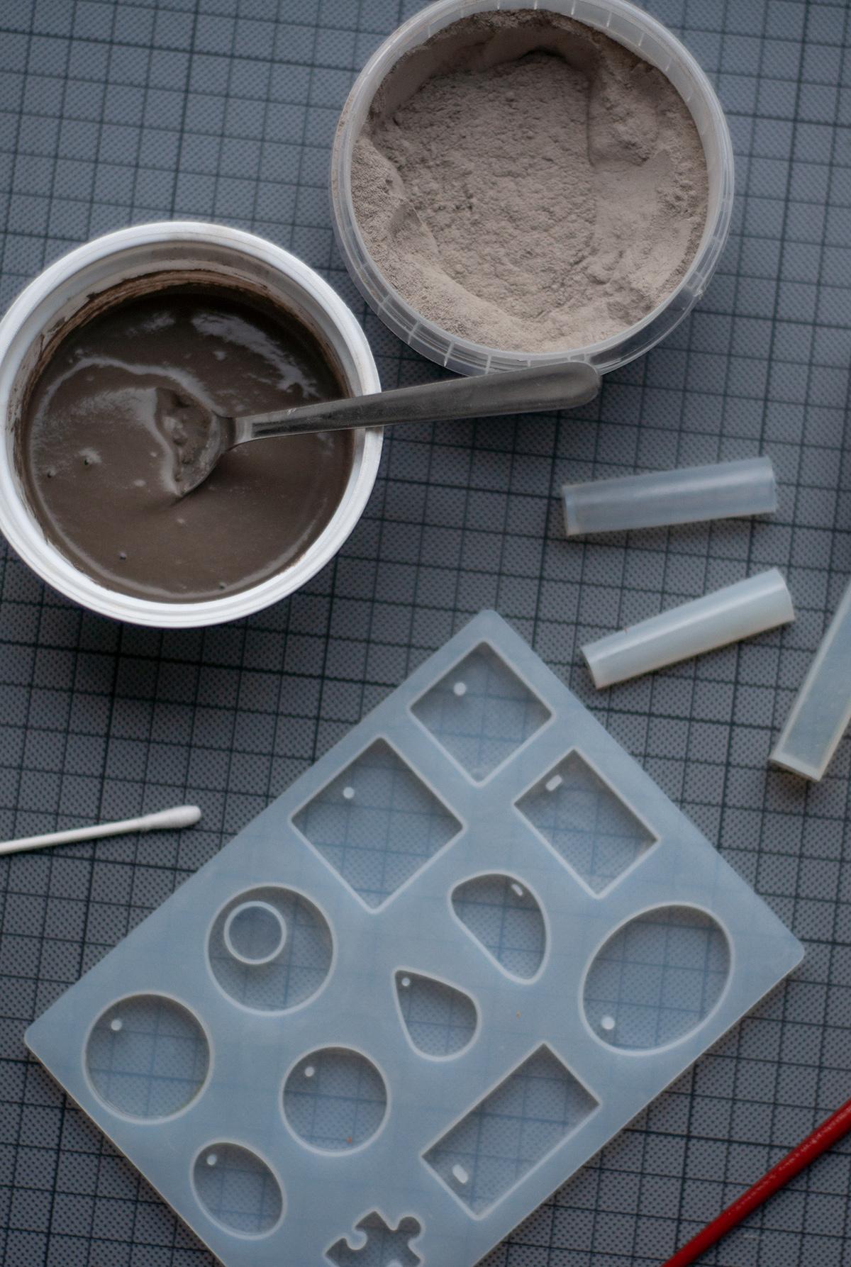 Beton-Schmuck Formen und Beton