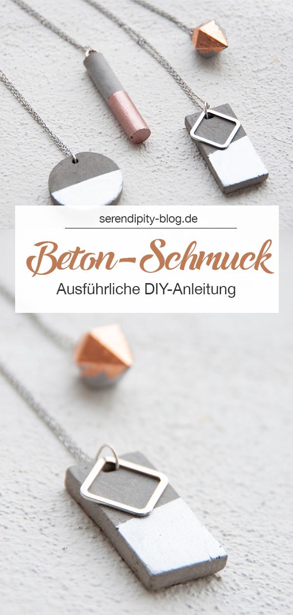 Beton-Schmuck mit Kupfer-Details und ausführlicher DIY-Anleitung